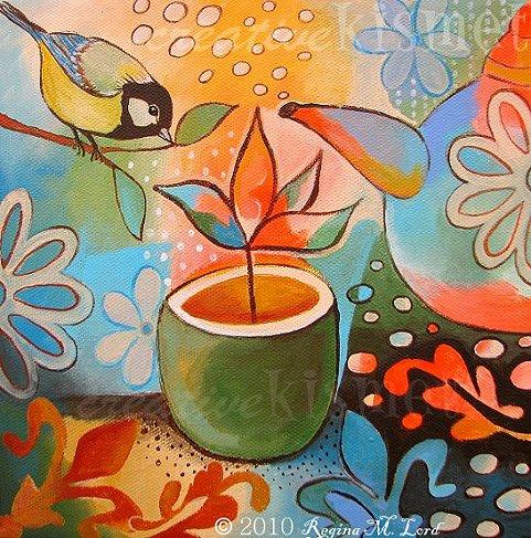 Glorious morning tea -wm